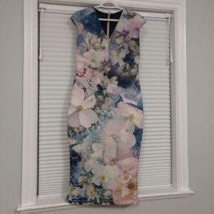 Ted Baker Midi Gorgeous Multi Color Dress